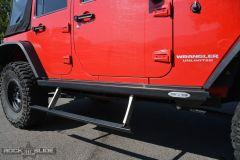 Rock Slide Engineering Step Sliders (Black) for 07-18 Jeep Wrangler JKU 4 Door BD-SS-200-JK4