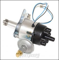 Omix-ADA Distributor For 1954-64 Jeep CJ Series With 6 CYL 12V 226, Electronic, Replaces Points Distributor 17239.08