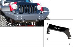 Off Camber Fabrications Front Full Width Bumper with Formed Front Light Bar for 07-18 Jeep Wrangler JK, JKU 12126.0013