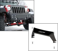Off Camber Fabrications Front Stubby Bumper with Formed Front Light Bar for 07-18 Jeep Wrangler JK, JKU 12126.0012