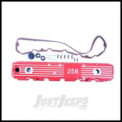 Omix-ADA Aluminum Valve Cover Red For 1981-87 Jeep CJ & Wrangler With 258 17401.14
