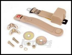Omix-ADA Lap Seat Belt Tan Retractable For 1987-95 Jeep Wrangler YJ 13202.21