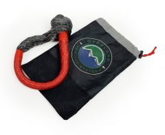 """Overland Systems Soft Red Shackle with Loop & Storage Bag 5/8"""" (Universal) 19149903"""