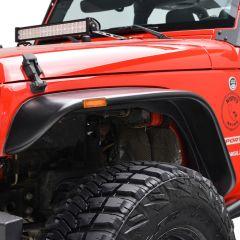 Paramount Automotive Flat Style Fender Flare 4 Piece Kit for 07-18 Jeep Wrangler JK, JKU 17195