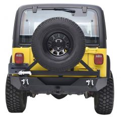 Paramount Automotive Rear Bumper with Tire Carrier for 87-06 Jeep Wrangler YJ & TJ 51-0015