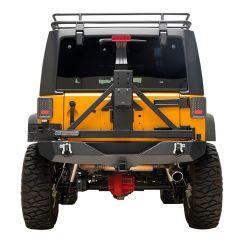 Paramount Automotive Heavy Duty Rock Crawler Rear Bumper w/ Tire Carrier for 07-18 Jeep Wrangler JK, JKU 51-0315