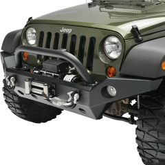 Paramount Automotive Full Width Front Bumper with Fog Light Housing and D-Rings for 07-18 Jeep Wrangler JK, JKU 51-0362