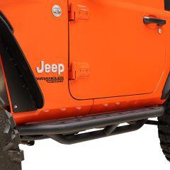 Paramount Automotive Tri-Tube Round Hole Rock Slider with Step Bar for 07-18 Jeep Wrangler JK 2-Door 51-7014
