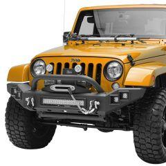 Paramount Automotive Full Width LED Light Style Front Bumper for 07-18 Jeep Wrangler JK, JKU 51-7016