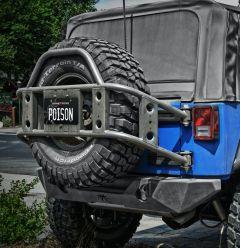 Poison Spyder Body Mounted Tire Carrier (Bare) for 2007-2018 Jeep Wrangler JK, JKU 17-13-010