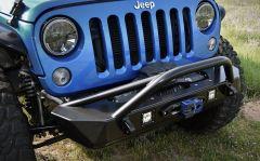 Poison Spyder Customs Bruizer Front Bumper (Black) for 2007-2018 Jeep Wrangler JK, JKU 17-57-010DBTP1