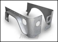 "Poison Spyder Crusher Corners Standard Option With 3"" Crusher Flares For 1987-95 Jeep Wrangler YJ (Bare Aluminum) 13-04-073-ALUM"