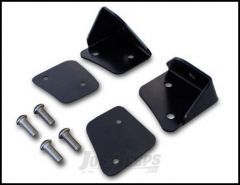 Poison Spyder Lower A-Pillar Light Mounts for Rigid Dually For 2007-18 Jeep Wrangler JK 2 Door & Unlimited 4 Door Models (Pair) 45-28-RDA