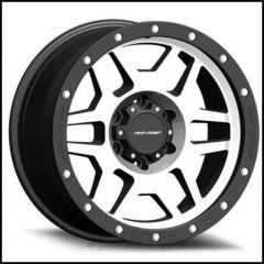 Pro Comp Series 41 Wheel 17 X 9 With 5 On 5.00 Bolt Pattern In Machine Black With Stainless Steel Bolts PXA3541-7973