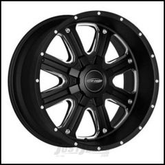 Pro Comp Series 82 Wheel 17 X 9 With 5 On 5.00 & 5 On 5.50 Bolt Pattern In Matte Black Machine PXA5182-7905