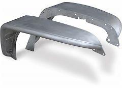 Poison Spyder Aluminum Front Crusher Flares - Standard Width For 2007-18 Jeep Wrangler JK 2 Door & Unlimited 4 Door Models (Bare Aluminum) 17-03-030-ALUM