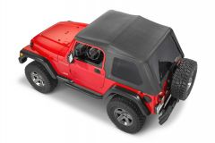 QuadraTop Adventure Top Without Doors in Black Denim for 97-06 Jeep Wrangler TJ 11113-