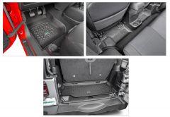 Quadratec Tru-Fit Floor Liner Triple Combo for 07-18 Jeep Wrangler JK