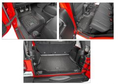 Quadratec Tru-Fit Floor Liner Triple Combo for 07-18 Jeep Wrangler Unlimited JK