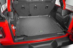 Quadratec Tru-Fit Rear Cargo Liner for 18+ Jeep Wrangler JL Unlimited w/ Leather Seats 14259JLUL-
