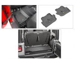 Quadratec Tru-Fit Floor Liner Triple Combo for 18+ Jeep Wrangler JL 2-Door 14256JLC-
