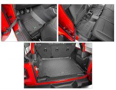 Quadratec Tru-Fit Floor Liner Triple Combo for 18+ Jeep Wrangler JL Unlimited w/ Leather Seats 14256JLUL-