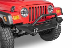 TACTIK Winch Ready Front Bumper with Hoop & D-Rings for 97-06 Jeep Wrangler TJ & Unlimited 12052.0144