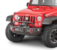 Quadratec QRC Front Winch Ready Bumper Stubby Without Winch for 07-18 Jeep Wrangler JK 12057.0120