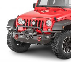 Quadratec QRC Front Winch Ready Bumper Full Width Without Winch for 07-18 Jeep Wrangler JK 12057.0121