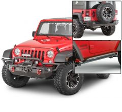 Quadratec QRC Front / Rear Bumper & Rocker Guards for 07-18 Jeep Wrangler JK 2-Door 12057K2DR
