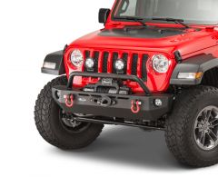 Quadratec QRC Front Winch Ready Bumper Stubby Without Winch for 18-20+ Jeep Wrangler JL, JLU Gladiator JT