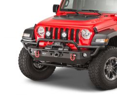 Quadratec QRC Front Winch Ready Bumper Full Width Without Winch for 18-20+ Jeep Wrangler JL, JLU & Gladiator JT