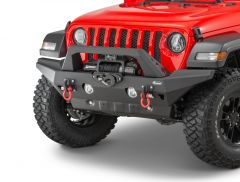 Quadratec Aluminum Brute Strength Winch Bumper Full Width for 18-20+ Jeep Wrangler JL, JLU & Gladiator JT 12057.0260