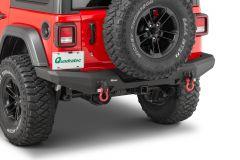 Quadratec Brute Strength Aluminum Rear Bumper for 18+ Jeep Wrangler JL, JLU
