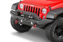 Quadratec Aluminum Brute Strength Winch Bumper Full Width for 07-18 Jeep Wrangler JK, JKU
