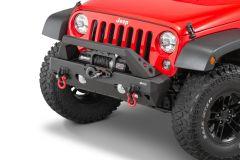 Quadratec Aluminum Brute Strength Winch Bumper Stubby for 07-18 Jeep Wrangler JK, JKU 12057.0264