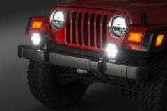 """Quadratec Hi Performance 6"""" Round LED Light Kit for 97-06 Jeep Wrangler TJ & Unlimited 917TJ6-"""