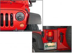 Quadratec Premium Heated LED Projector Beam Headlights & LED Tail Lights for 07-18 Jeep Wrangler JK, JKU 97109.0095
