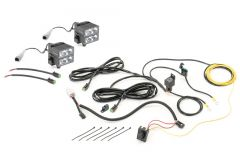 Quadratec 2x2 Stealth LED Light Pods with Complete Wiring Harness (Pair) 97109.1421