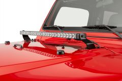 "Quadratec Stealth 27"" LED Light Bar with Hood Mount Brackets and Wiring for 97-06 Jeep Wrangler & Unlimited TJ 97109.1430"