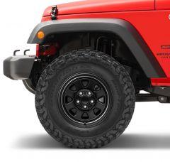 Quadratec CJ Retro Alloy Wheel In 17x8.5 with 5.2in Backspace for 07-20+ Jeep Wrangler JK, JL and Gladiator JT 92615CJR-
