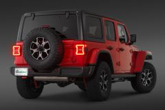 Quadratec LED Tail Light with Lane Change Avoidance for 18+ Jeep Wrangler JL, JLU 55213-