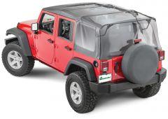 QuadraTop Gen II Complete Soft Top in Black Diamond for 07-18 Jeep Wrangler Unlimited JK 11000.5435