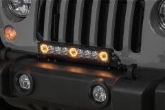"""Quadratec J3 LED 17"""" Light Bar with Grille Mount Brackets and Wiring for 07-18 Jeep Wrangler JK 97109.2514"""