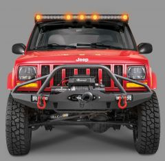 Quadratec J5 LED Light Bar Kit with Windshield Mounting Brackets for 84-01 Jeep Cherokee XJ 97109.1026