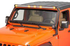 Quadratec J5 LED Light Bar with Windshield Mounting Brackets for 18-20+ Jeep Wrangler JL & Gladiator JT 97109.1125