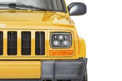 Quadratec Premium Heated LED Projector Beam Headlights for 84-01 Jeep Cherokee XJ & 87-95 Wrangler YJ 97109.0312