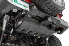 Quadratec Aluminum Modular Muffler Skid Plate for 18+ Jeep Wrangler JL, JLU 125000-