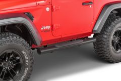 Quadratec QR4 Heavy Duty Oval Side Steps for 18+ Jeep Wrangler JL 2 Door 12004.3064