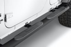Quadratec QR4 Heavy Duty Oval Side Steps for 07-18 Jeep Wrangler Unlimited JK 4 Door 12004.3105